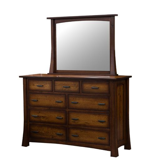 Amish USA Made Handcrafted Princeton 9 Drawer Dresser sold by Online Amish Furniture LLC