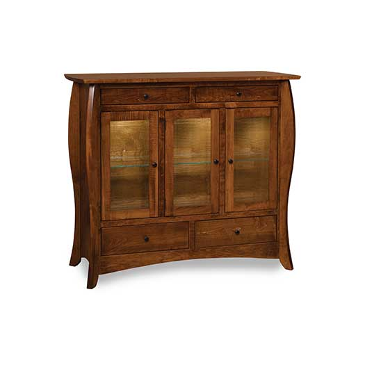 Amish USA Made Handcrafted Quincy High Buffet sold by Online Amish Furniture LLC