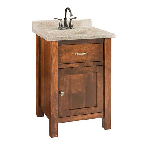 Amish USA Made Handcrafted Regal Lavatory Vanities sold by Online Amish Furniture LLC