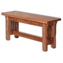 Load image into Gallery viewer, Amish USA Made Handcrafted Landmark Mission Benches sold by Online Amish Furniture LLC