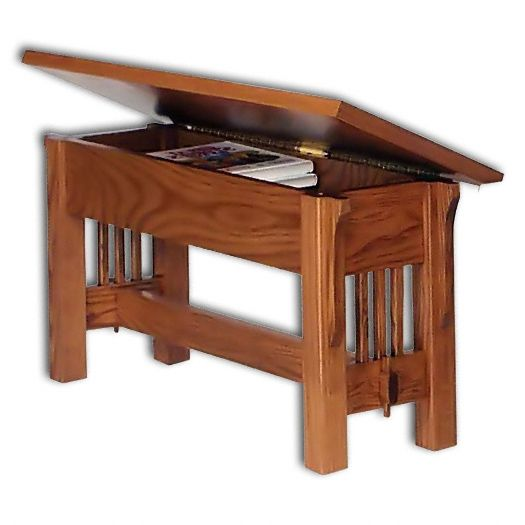 Amish USA Made Handcrafted Landmark Mission Benches sold by Online Amish Furniture LLC