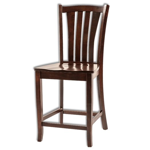 Amish USA Made Handcrafted Harris Bar Stool sold by Online Amish Furniture LLC