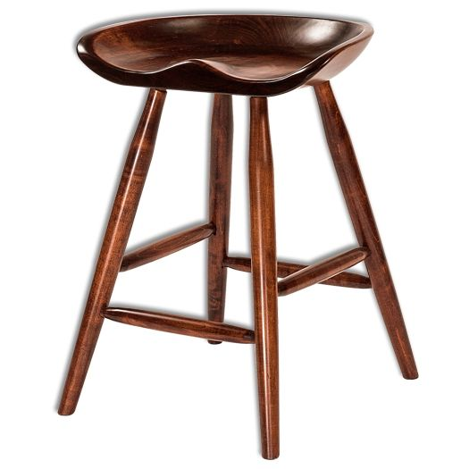 Amish USA Made Handcrafted Winslow Bar Stool sold by Online Amish Furniture LLC