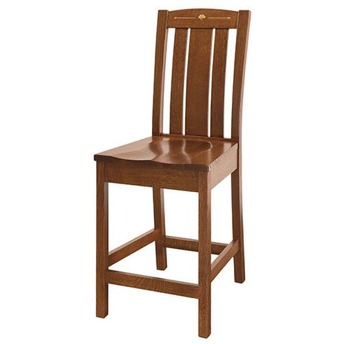 Amish USA Made Handcrafted Mesa Bar Stool sold by Online Amish Furniture LLC