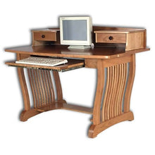 Load image into Gallery viewer, Amish USA Made Handcrafted Royal Mission Pencil Desk sold by Online Amish Furniture LLC