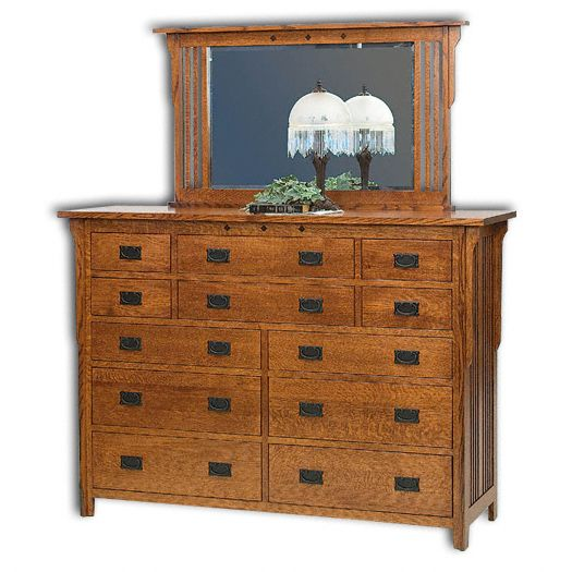 Amish USA Made Handcrafted Royal Mission 12 Drw. Dresser sold by Online Amish Furniture LLC