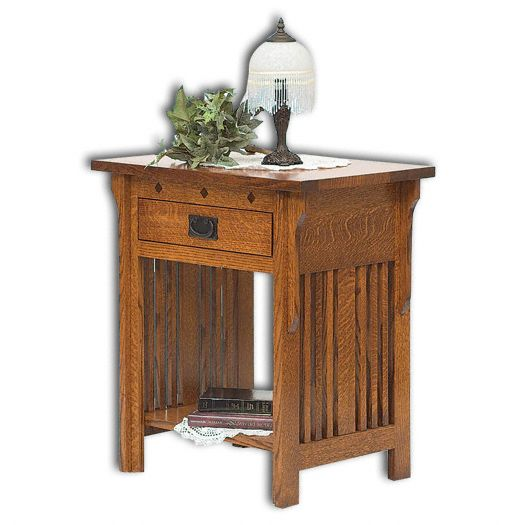 Amish USA Made Handcrafted Royal Mission Open Nightstand sold by Online Amish Furniture LLC