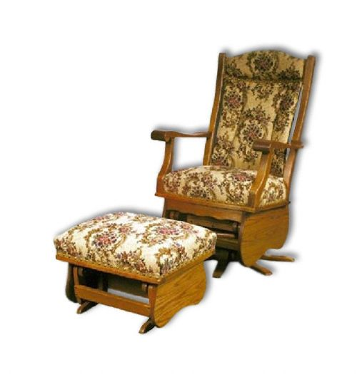 Amish USA Made Handcrafted Swivel Glider sold by Online Amish Furniture LLC
