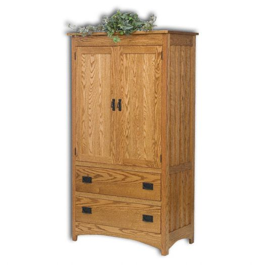 Amish USA Made Handcrafted Mission 1pc. Armoire sold by Online Amish Furniture LLC