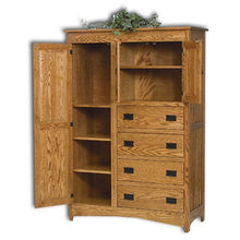 Load image into Gallery viewer, Amish USA Made Handcrafted Mission Chifferobe sold by Online Amish Furniture LLC