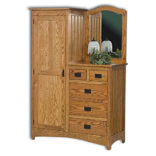 Amish USA Made Handcrafted Mission Single L-Dresser sold by Online Amish Furniture LLC