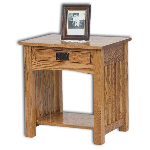 Amish USA Made Handcrafted Mission 1-Drawer Open Nightstand sold by Online Amish Furniture LLC