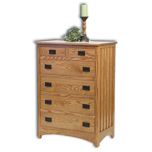 Amish USA Made Handcrafted Mission 6 Drawer Chest sold by Online Amish Furniture LLC