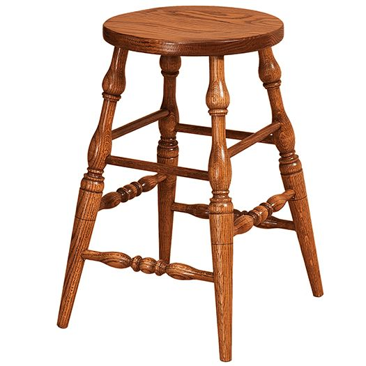 Amish USA Made Handcrafted Scoop Bar Stool sold by Online Amish Furniture LLC