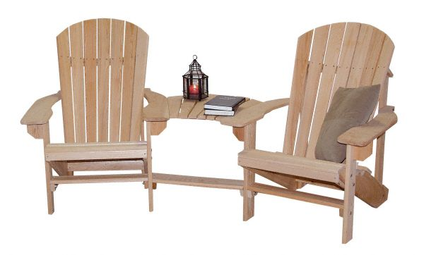 Amish USA Made Handcrafted Cypress Double Adirondack Chair sold by Online Amish Furniture LLC