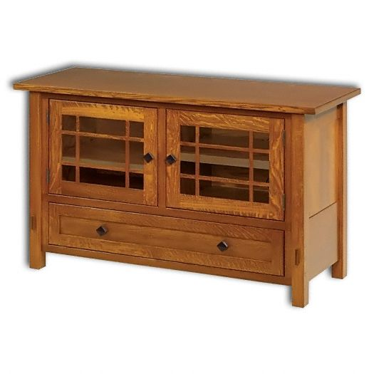 Amish USA Made Handcrafted SpringHill 49 Plasma T.V. Stand sold by Online Amish Furniture LLC
