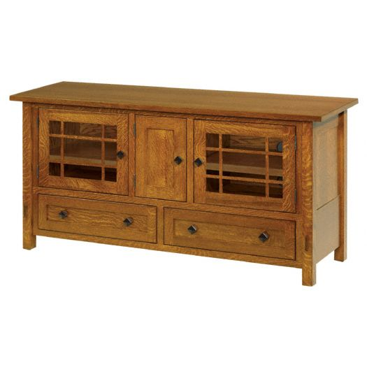 Amish USA Made Handcrafted SpringHill 60 TV Cabinet sold by Online Amish Furniture LLC