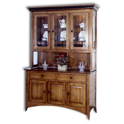 Amish USA Made Handcrafted Shaker Hill Hutch sold by Online Amish Furniture LLC