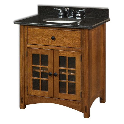 Amish USA Made Handcrafted Springhill 33 Vanity sold by Online Amish Furniture LLC
