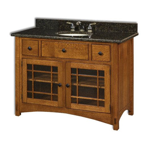 Amish USA Made Handcrafted Springhill 49 Vanity sold by Online Amish Furniture LLC