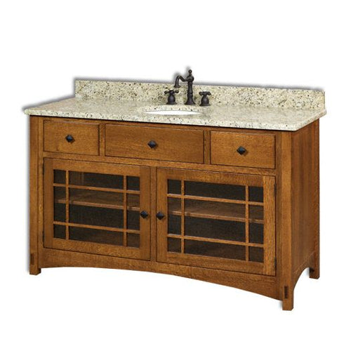 Amish USA Made Handcrafted Springhill 60 Vanity sold by Online Amish Furniture LLC