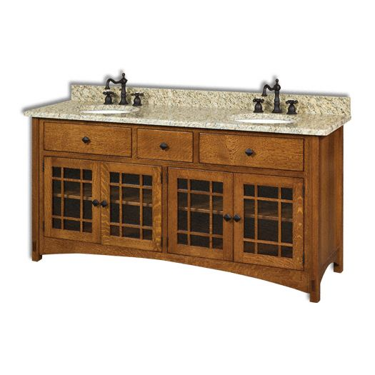 Amish USA Made Handcrafted Springhill 72 Vanity sold by Online Amish Furniture LLC