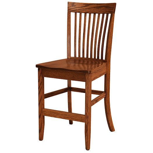 Amish USA Made Handcrafted Shelby Bar Stool sold by Online Amish Furniture LLC