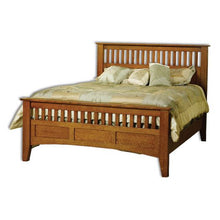 Load image into Gallery viewer, Amish USA Made Handcrafted Mission Antique  Bed sold by Online Amish Furniture LLC