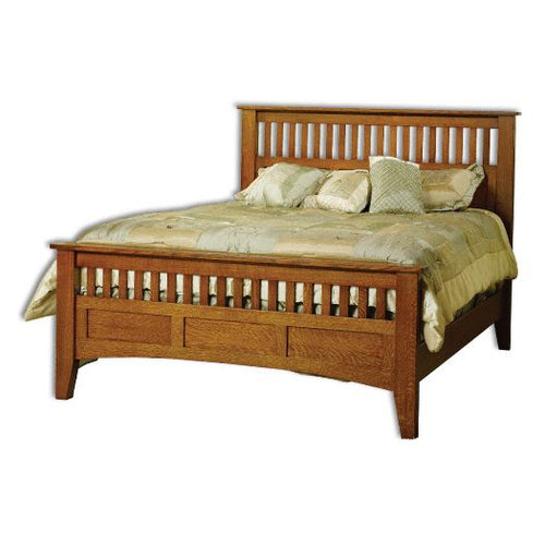 Amish USA Made Handcrafted Mission Antique  Bed sold by Online Amish Furniture LLC