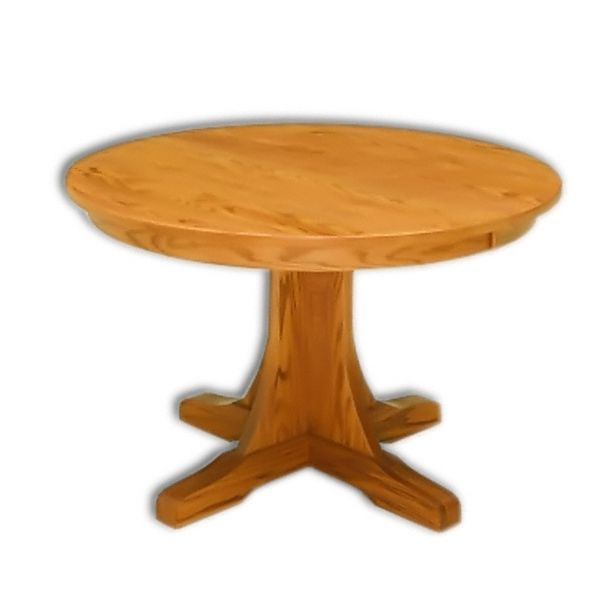 Amish USA Made Handcrafted Mission Single Pedestal Table sold by Online Amish Furniture LLC
