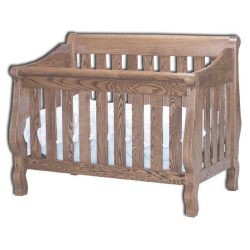 Amish USA Made Handcrafted Sleigh Conversion Crib sold by Online Amish Furniture LLC