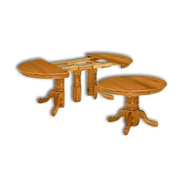Amish USA Made Handcrafted Split Pedestal Table sold by Online Amish Furniture LLC