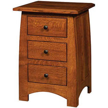 Load image into Gallery viewer, Amish USA Made Handcrafted Superior Shaker 3 Drawer Night Stand sold by Online Amish Furniture LLC