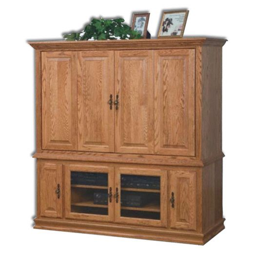 Amish USA Made Handcrafted Heritage  Wide Screen TV Unit sold by Online Amish Furniture LLC