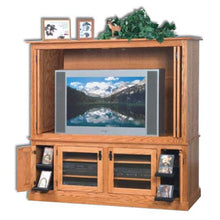 Load image into Gallery viewer, Amish USA Made Handcrafted Mission  Wide Screen TV Unit sold by Online Amish Furniture LLC