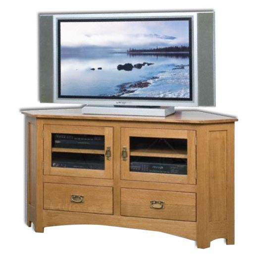 Amish USA Made Handcrafted Mission Plasma LCD Corner Unit sold by Online Amish Furniture LLC