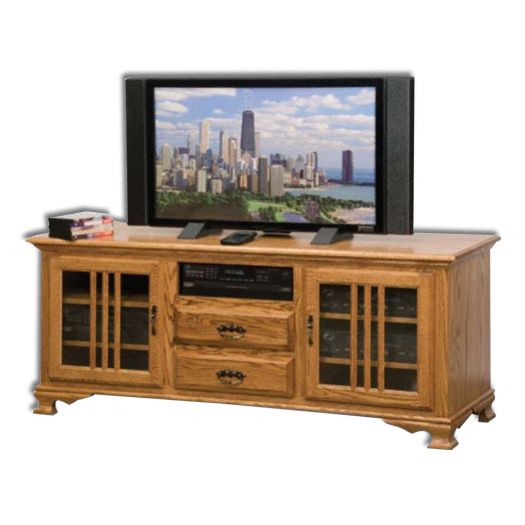 Amish USA Made Handcrafted Heritage 65 Plasma T.V. Stand sold by Online Amish Furniture LLC