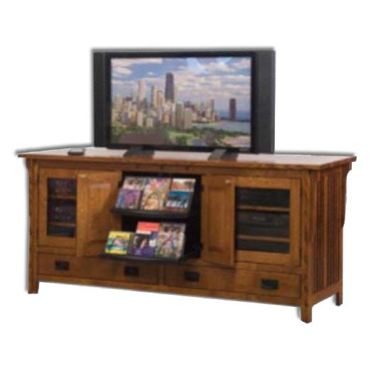 Amish USA Made Handcrafted Royal Mission 72 Plasma LCD Stand sold by Online Amish Furniture LLC