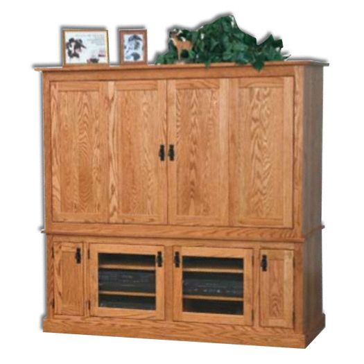 Amish USA Made Handcrafted Mission  Wide Screen TV Unit sold by Online Amish Furniture LLC