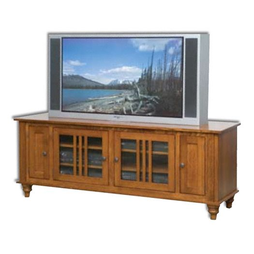 Amish USA Made Handcrafted Harvest 65 Plasma LCD TV Stand sold by Online Amish Furniture LLC