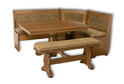 Amish USA Made Handcrafted Traditional 5-Piece Corner Nook sold by Online Amish Furniture LLC