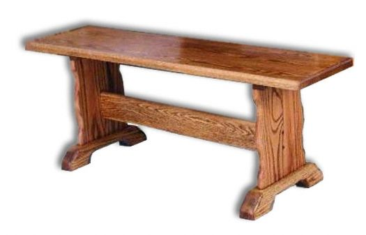 Amish USA Made Handcrafted Trestle Bench sold by Online Amish Furniture LLC