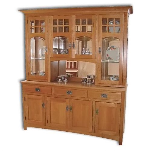 Amish USA Made Handcrafted Tribecca Hutch sold by Online Amish Furniture LLC