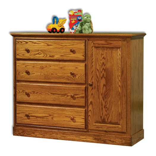 Amish USA Made Handcrafted Traditional Wardrobe with Changing Table sold by Online Amish Furniture LLC