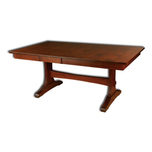 Amish USA Made Handcrafted Wasilla Trestle Table sold by Online Amish Furniture LLC