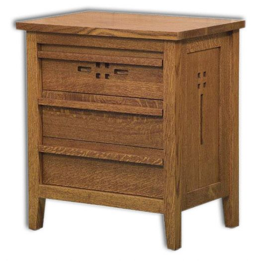 Amish USA Made Handcrafted West Village 3-Drawer Nightstand sold by Online Amish Furniture LLC