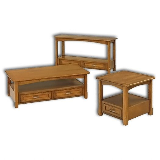 Amish USA Made Handcrafted West Lake Open Tables sold by Online Amish Furniture LLC