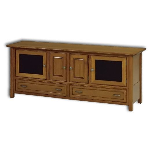 Amish USA Made Handcrafted West Lake 72 Plasma T.V. Stand sold by Online Amish Furniture LLC