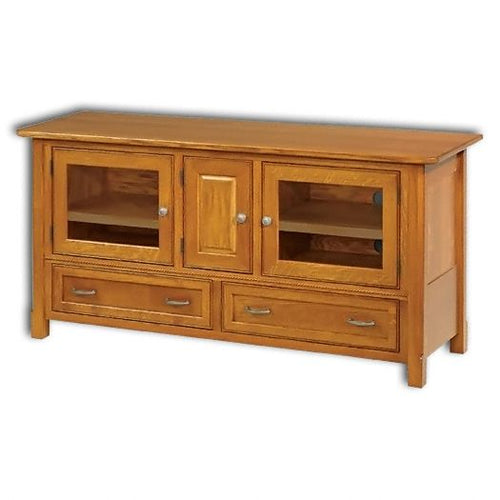 Amish USA Made Handcrafted West Lake 60 TV Cabinet sold by Online Amish Furniture LLC
