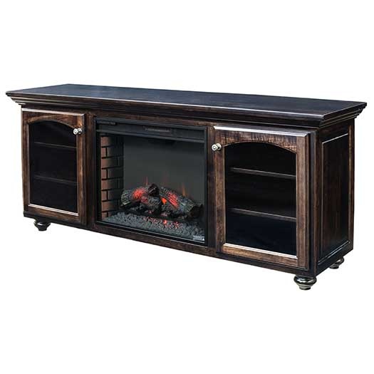 Amish USA Made Handcrafted Wyndam Fireplace sold by Online Amish Furniture LLC